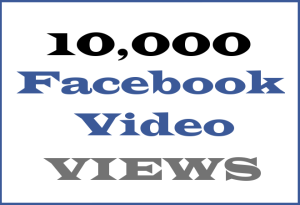 10K Facebook Video VIEWS