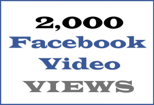 2K Facebook Video VIEWS