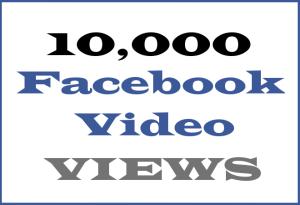 10K Facebook Video VIEWS