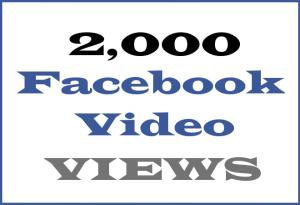 2K Facebook Video VIEWS